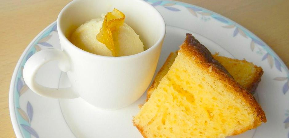 無農薬霜降り柚子を使った柚子ケーキ